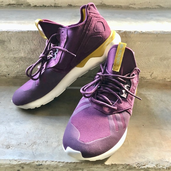Men's Adidas Tubular Runner Merlot Shoes 10
